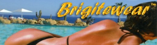 Thong swimwear, g string bikinis, topless bathing suits and sheer sexy swimwear by Brigitewear